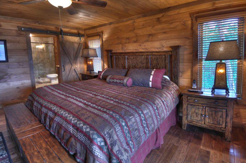 Chalet Schlafzimmer Bett bequem
