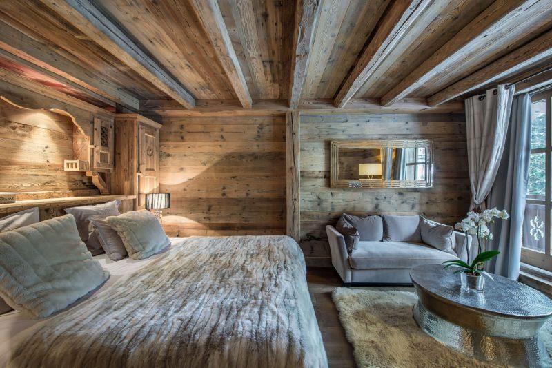 Chalet Schlafzimmer Dach Holz
