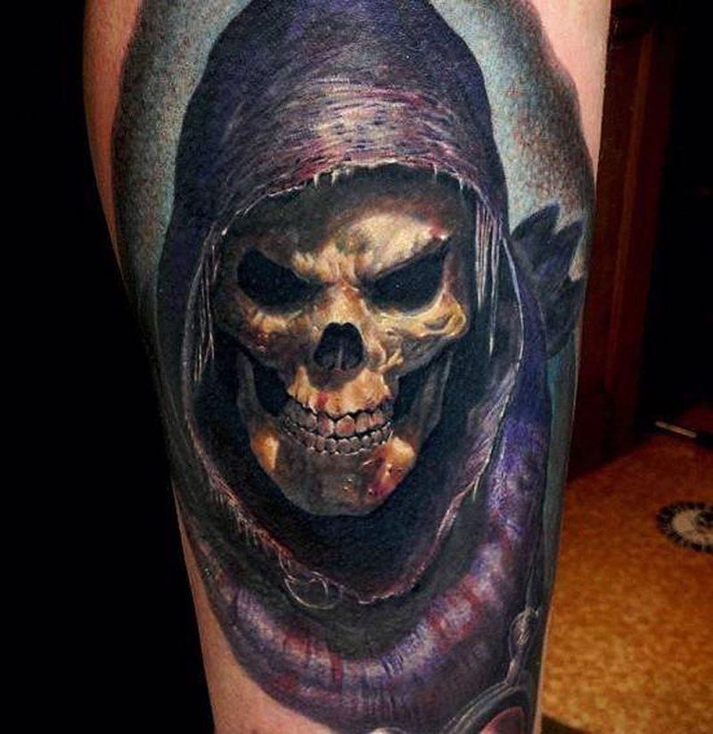 Schädel Tattoo der Tod