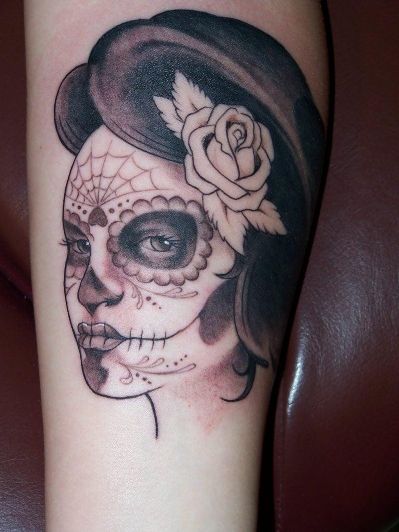 Schädel Tattoo La Catrina