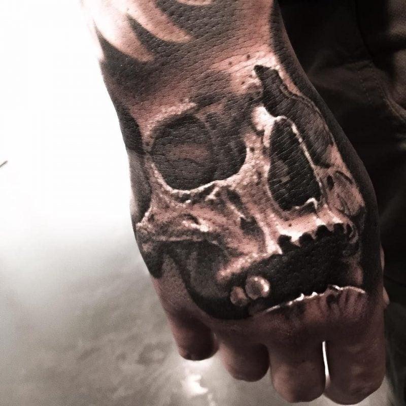Schädel Tattoo 3D Optik