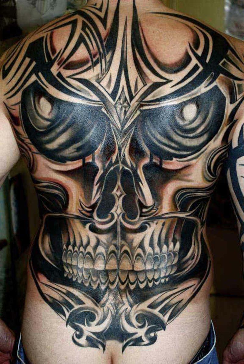 Schädel Tattoo schaurig