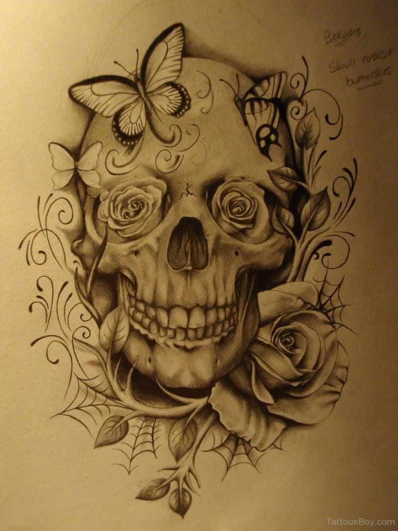 Schädel Tattoo tolle Vorlage