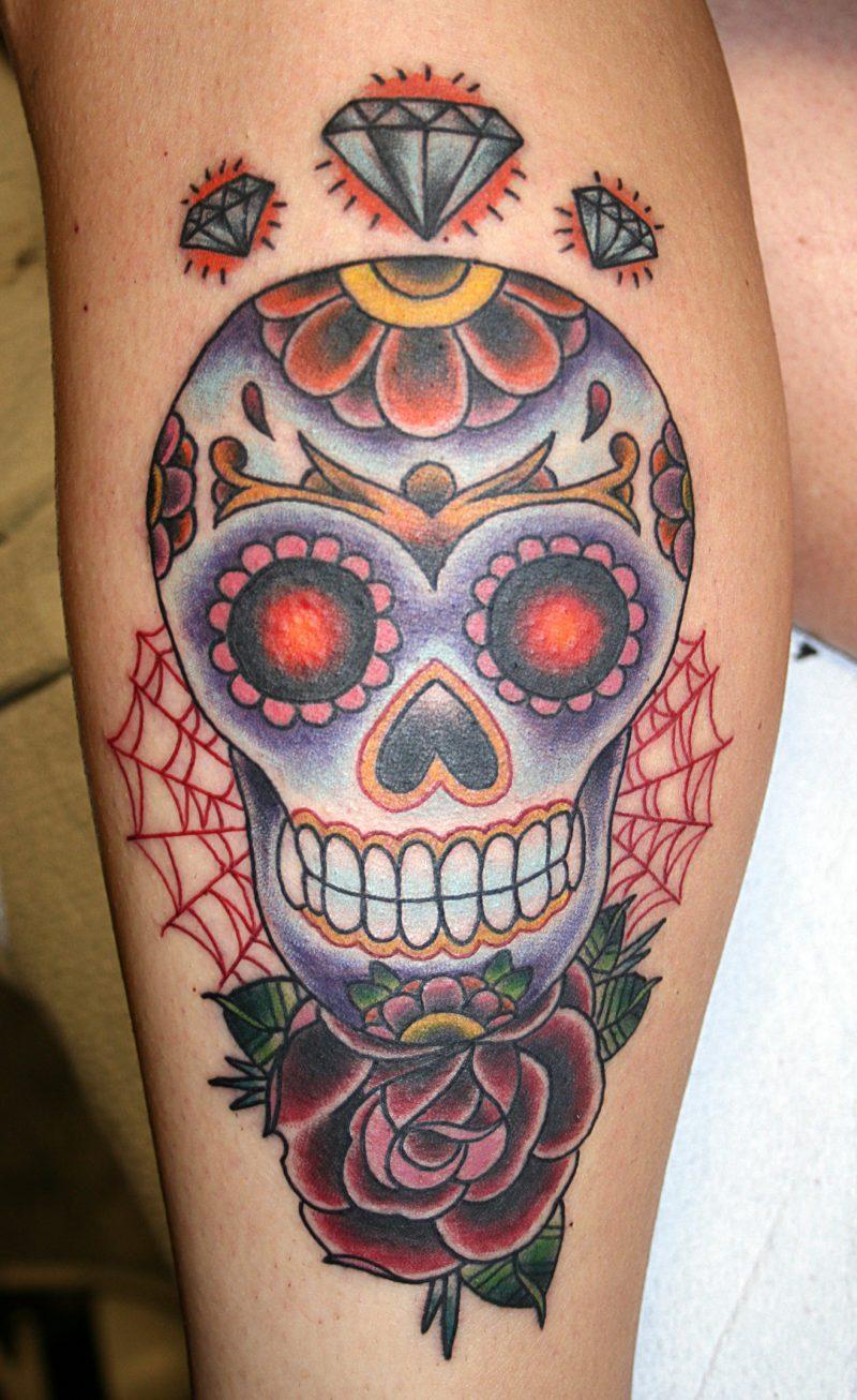 Schädel Tattoo mexikanisches Design