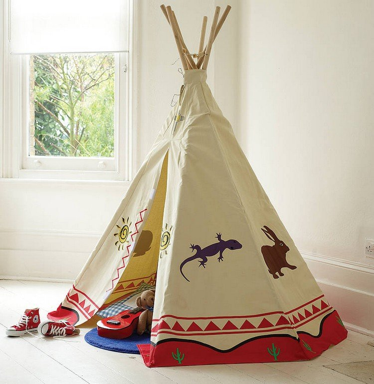 tipi n hen eine kreative idee f r das kinderzimmer. Black Bedroom Furniture Sets. Home Design Ideas