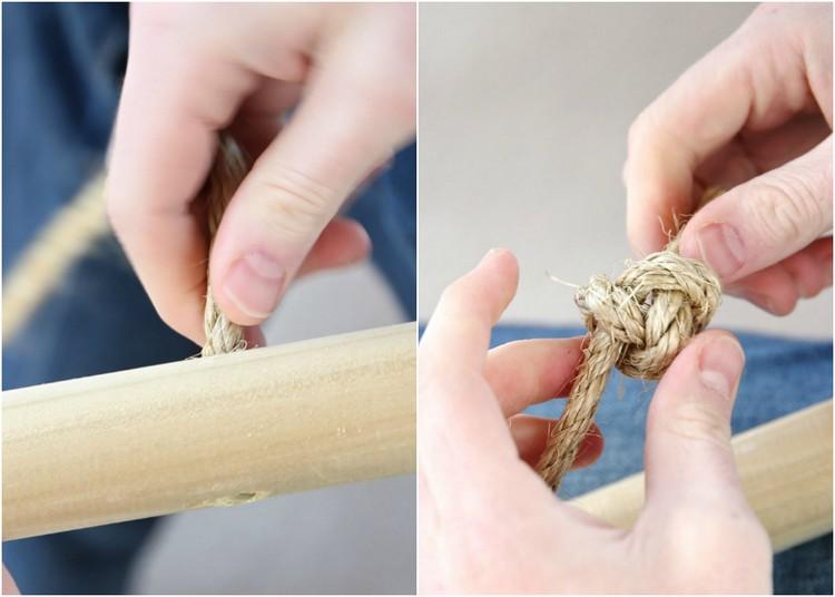 Tipi nähen Knoten binden