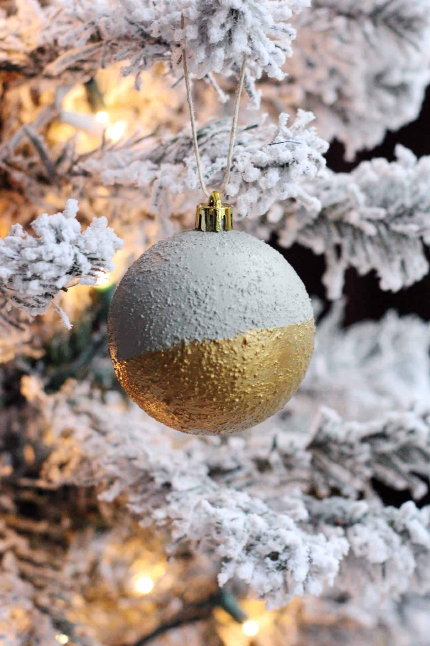 Beton Deko Weihnachten - Christbaumschmuck mit Beton basteln
