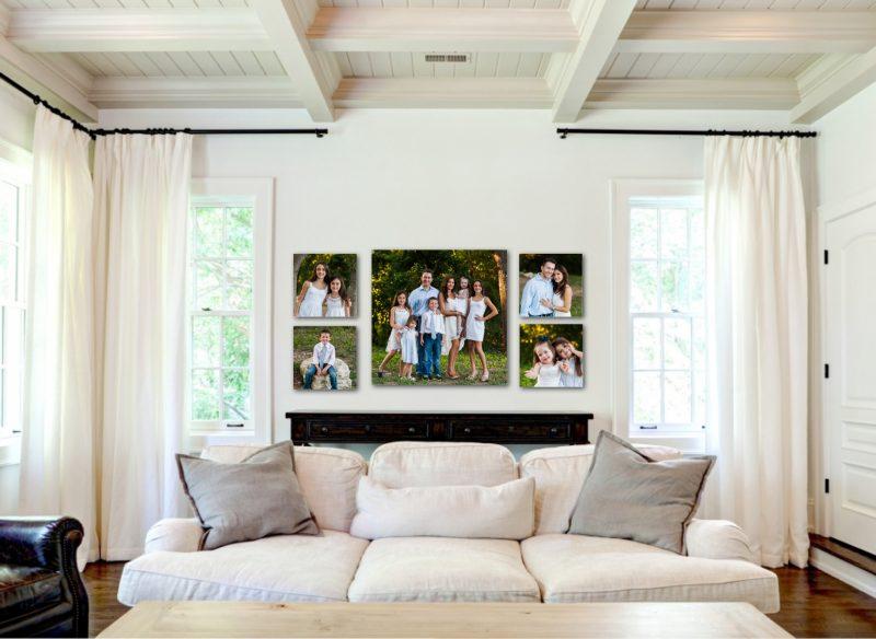 Farbfamilie im Wohnzimmer - Fotografie als Fotoleinwand