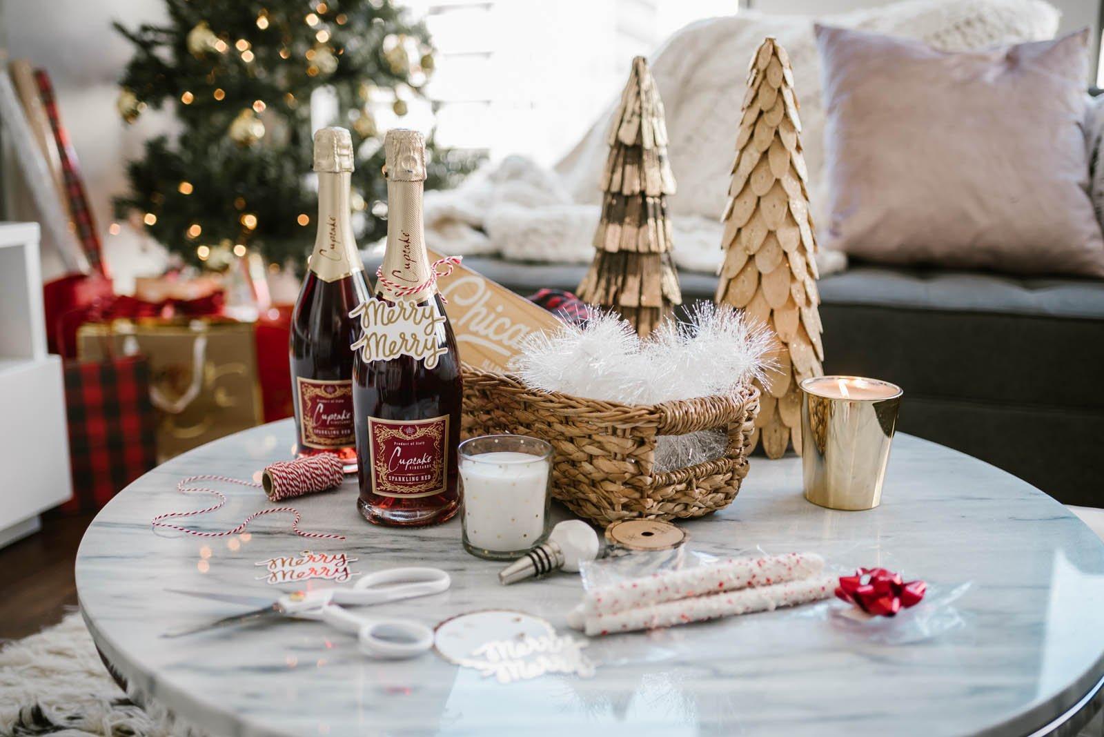 Weihnachtsgeschenke basteln: DIY Geschenkkorb selber basteln - DIY ...