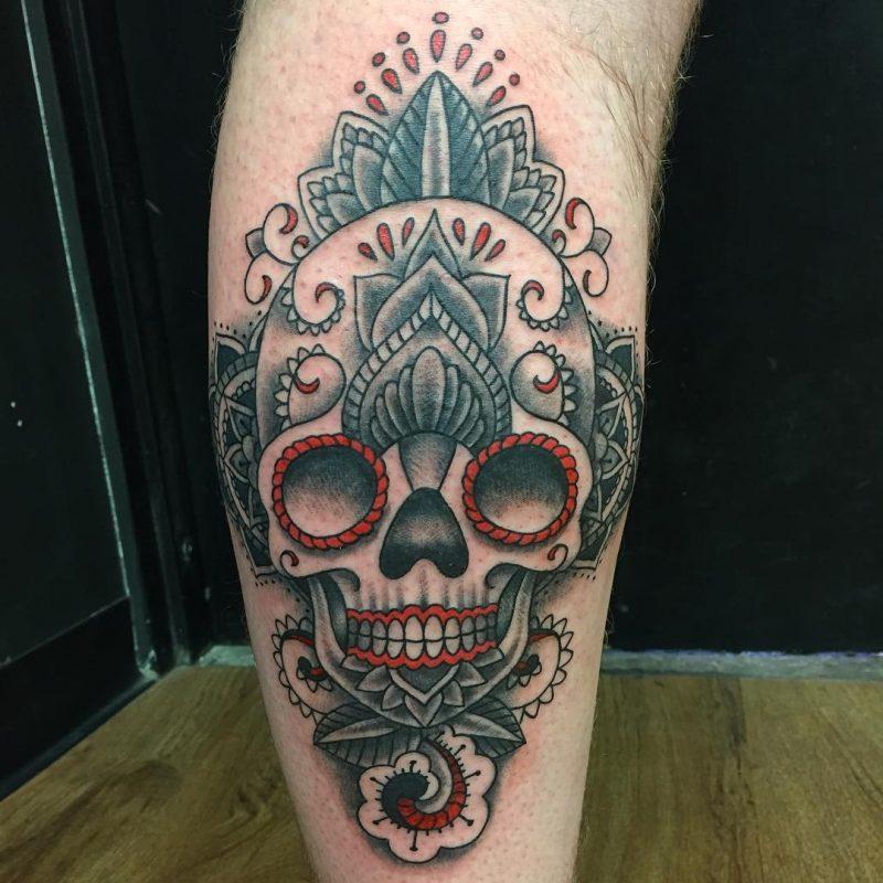 Schädel Tattoo mexikanisch