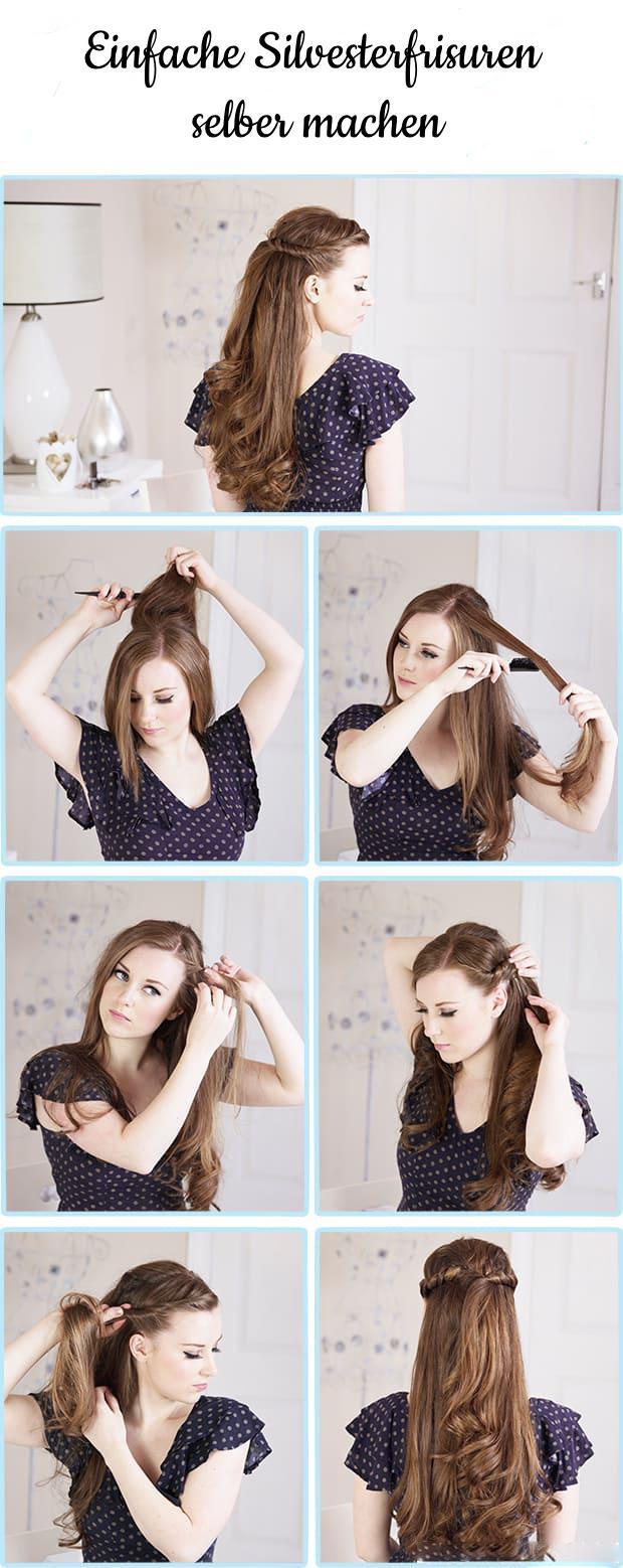 Ideen für Silvester Frisuren zum Selbermachen