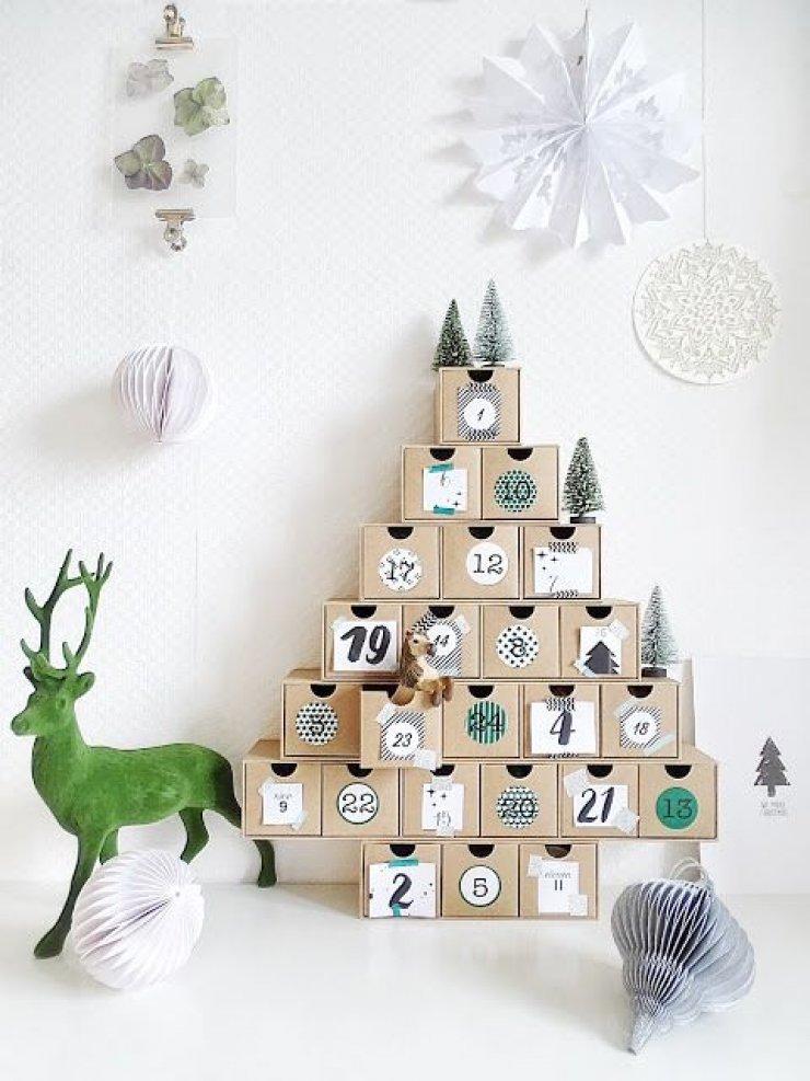 Adventskalender für Erwachsene Form Tannenbaum