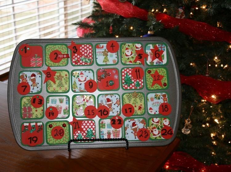 Ideen für Adventskalender Muffinform füllen