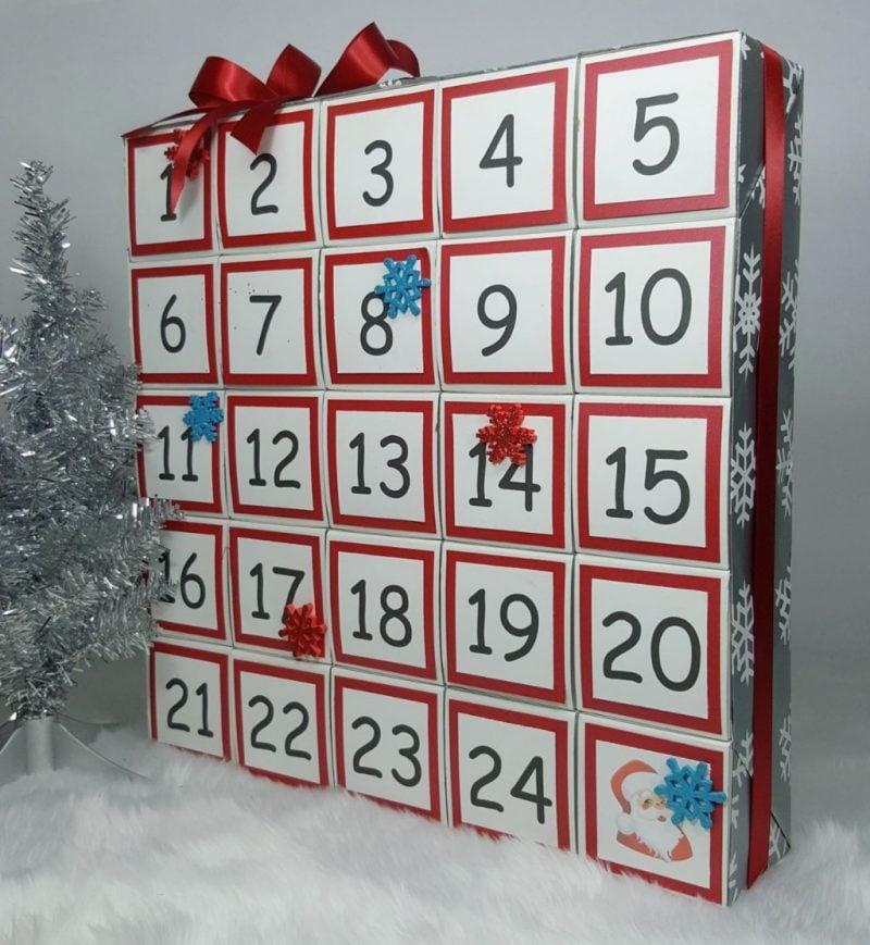 Ideen für Adventskalender Schachteln Karton