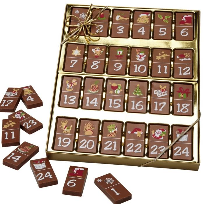 Ideen für Adventskalender Schokoladen rechteckig