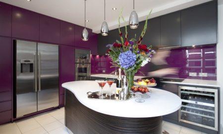 Aubergine Farbe Anthrazit Küche