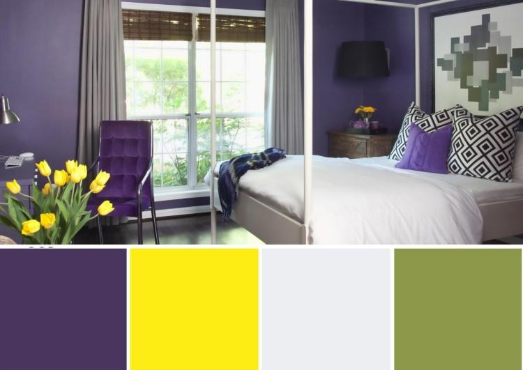 Aubergine Farbe gelungene Farbkombinationen