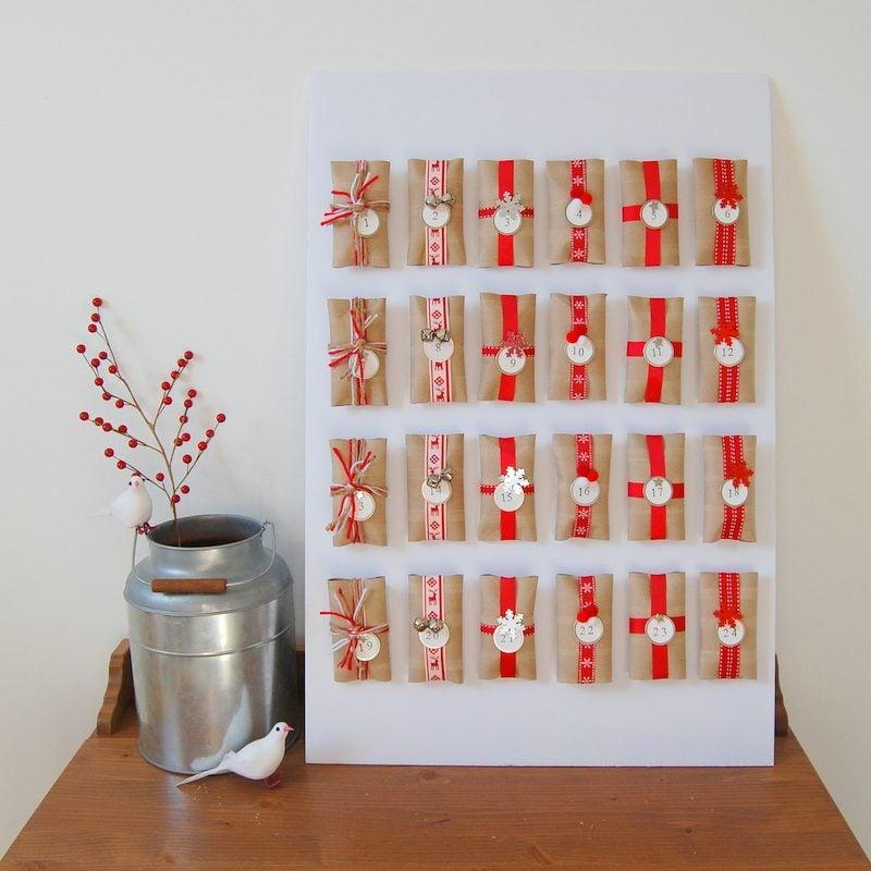 Adventskalender für Erwachsene Päckchen leere Klopapierrollen