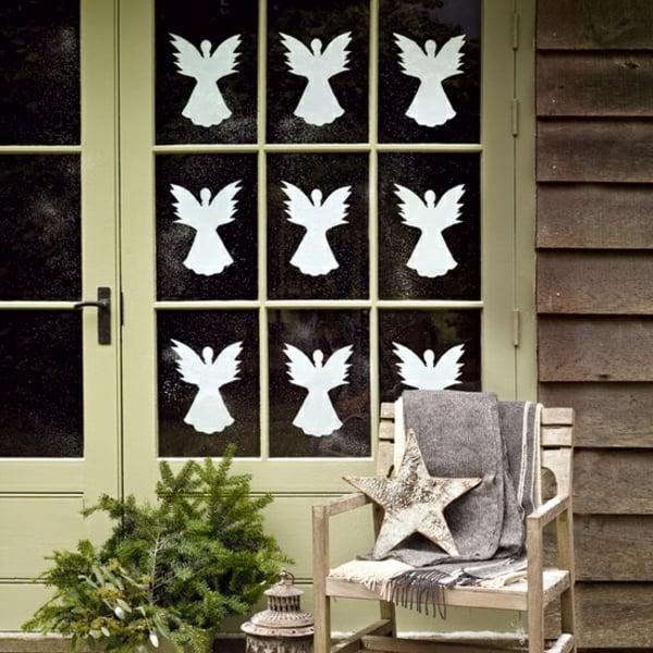 Engel basteln Papier Fensterdeko