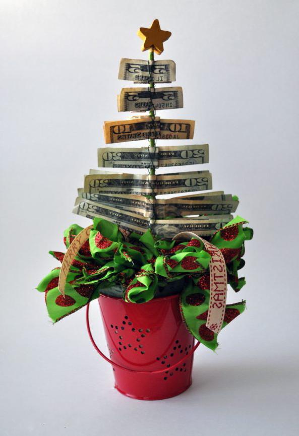 Geld weihnachtlich verpacken ist auch eine super Möglichkeit für die Kreativen.