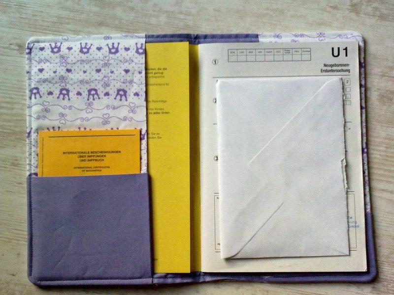 U-Heft Hülle nähen praktisch Unterlagen aufbewahren