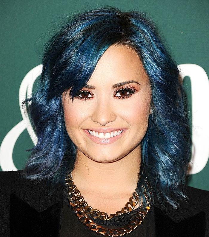 türkise Haare Stars Demi Lovato