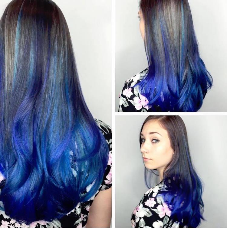 türkise Haare Ombre Effekt erstaunlich