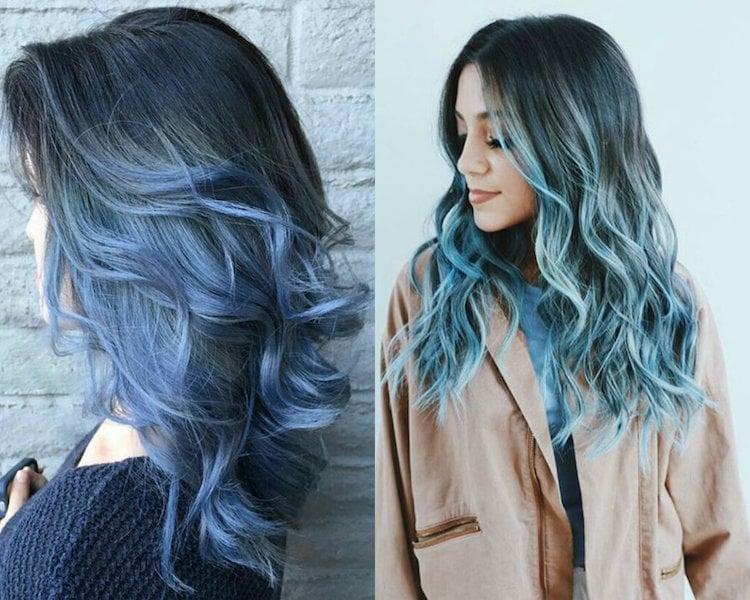 türkise Haare pastellig moderner Look
