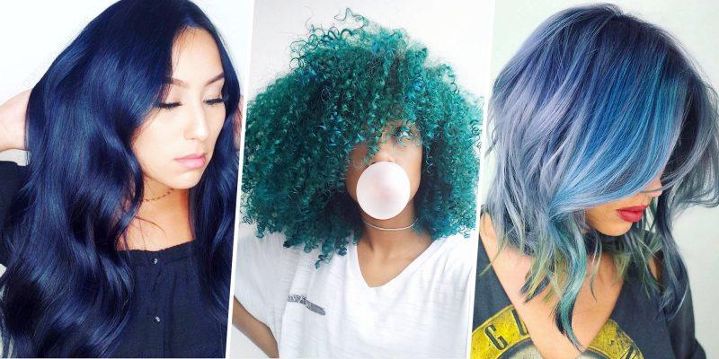 türkise Haare verschiedene Nuancen