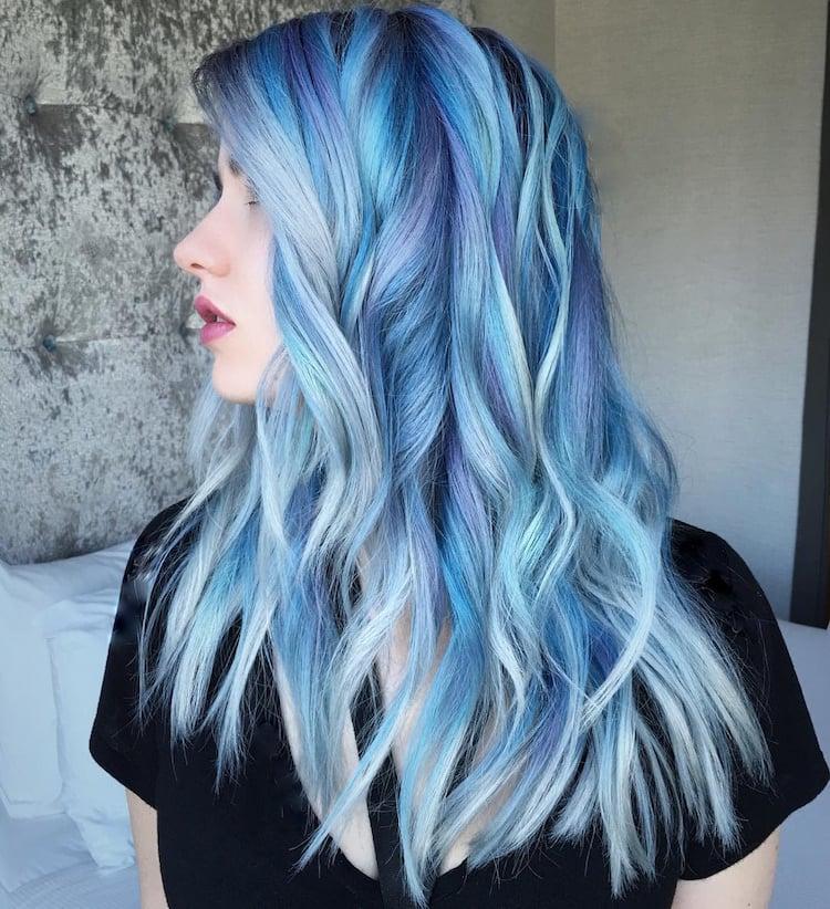 türkise Haare Tönungen pastellig