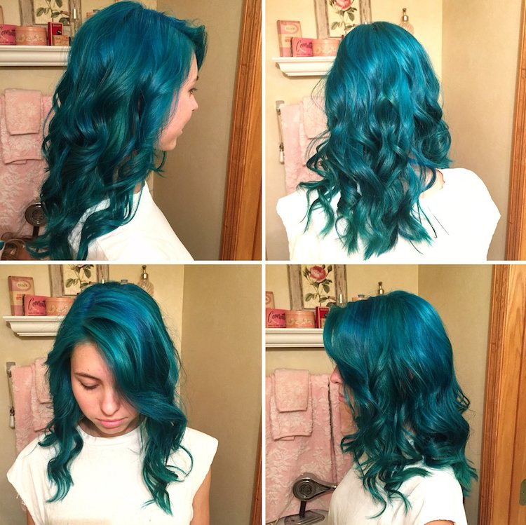 türkise Haare färben toller Look