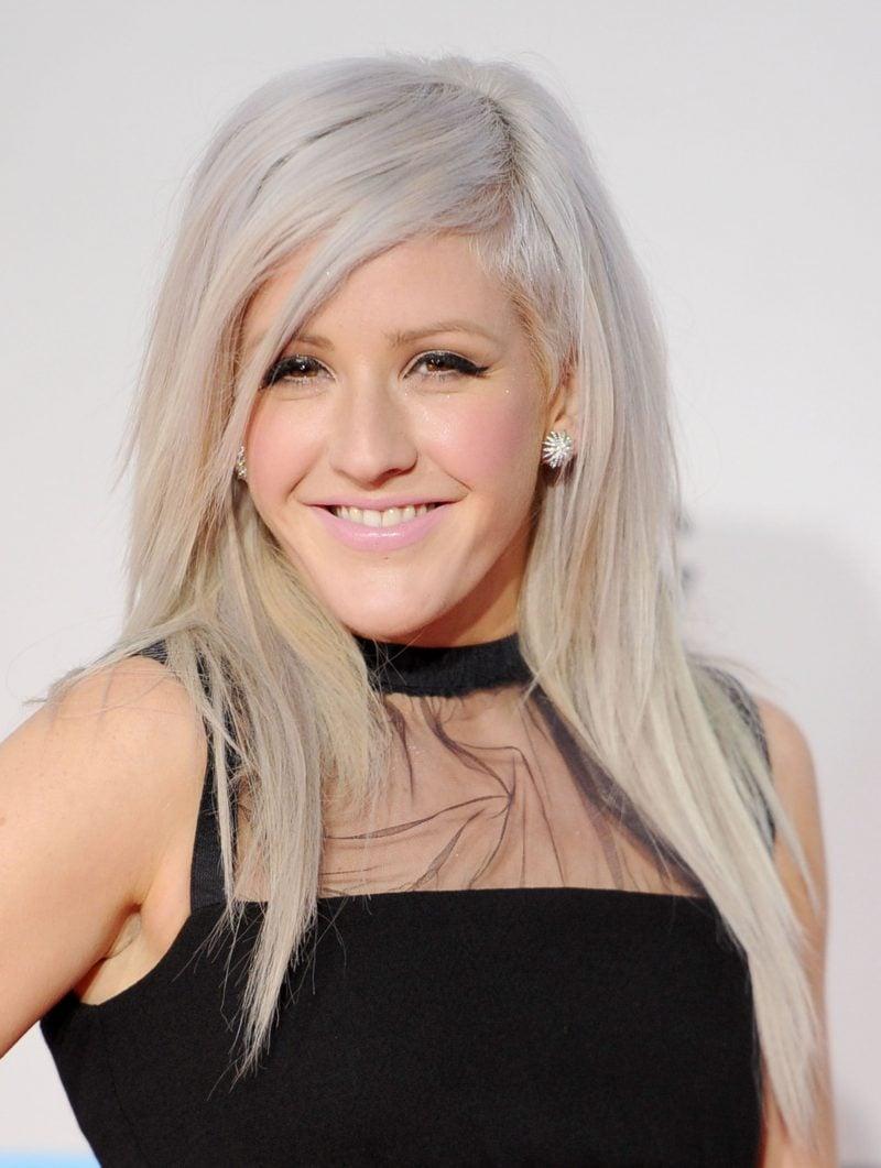 silber Haare färben Ellie Goulding