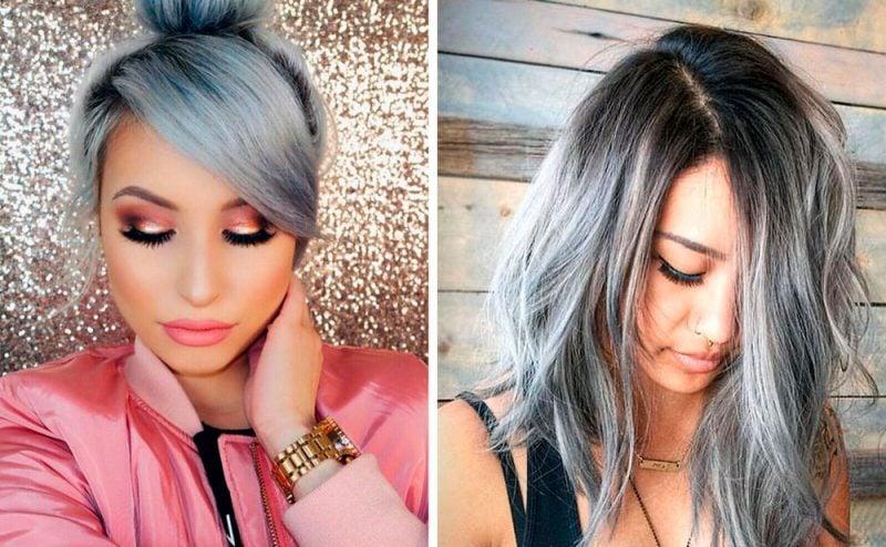 silber Haare färben Ideen für tolle Frisuren