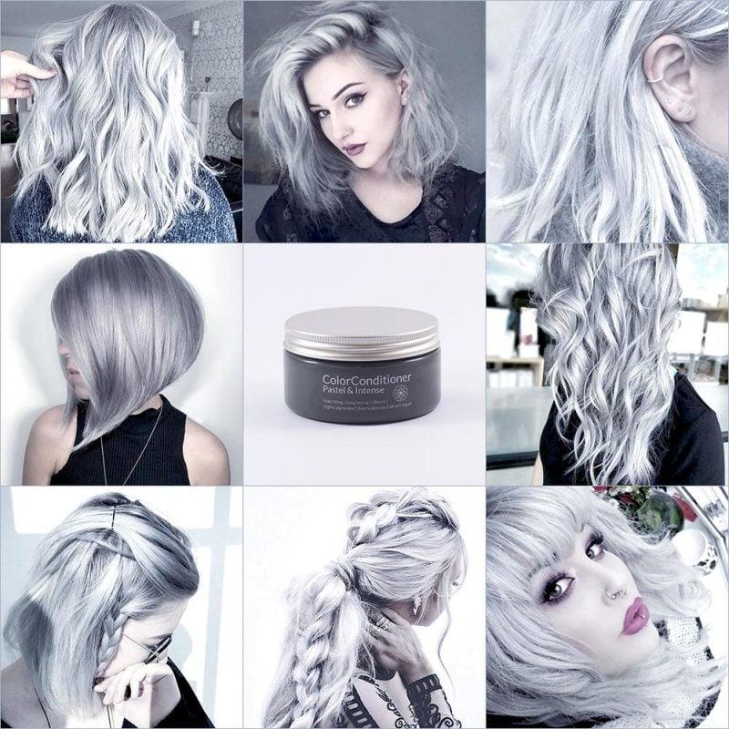 silber Haare färben Stylingidden Pflegeprodukte