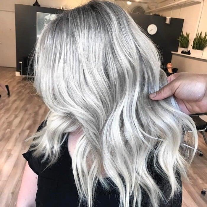 silber Haare färben wie geht es