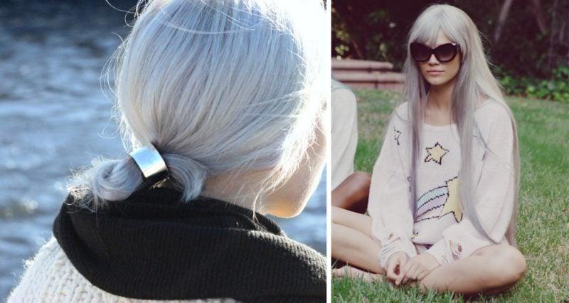 silber Haare färben modern und stilvoll