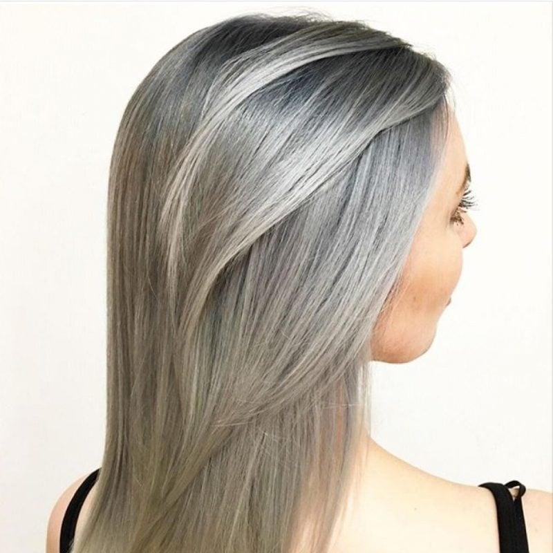 silber Haare färben eindrucksvoll