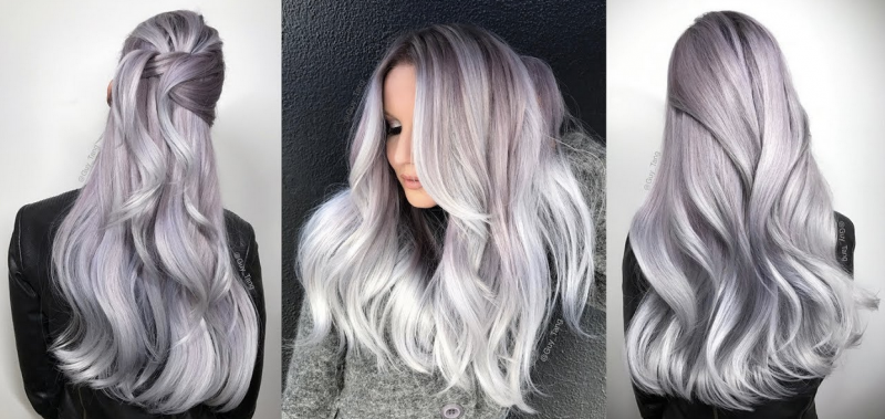 silber Haare färben stilvolle Stylingideen