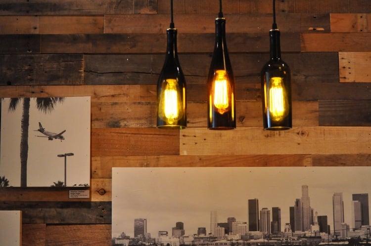 Lampe aus Flaschen hängende Pendelleuchten