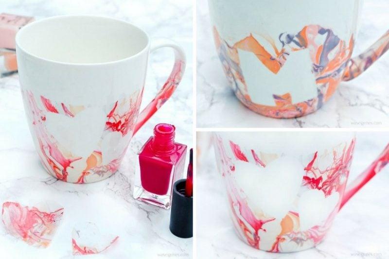 Weihnachtsgeschenke basteln für Erwachsene Tasse dekorieren