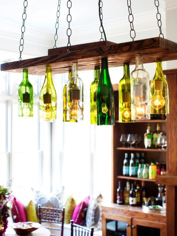 Lampe aus Flaschen Pendelleuchten industrieller Stil