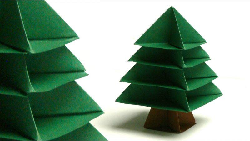 tannenbaum basteln aus papier eine umweltfreundliche diy idee. Black Bedroom Furniture Sets. Home Design Ideas