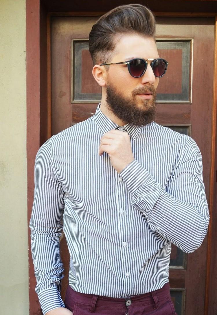 Hipster Frisur Mann Pompadour Harschnitt Sonnenbrillen