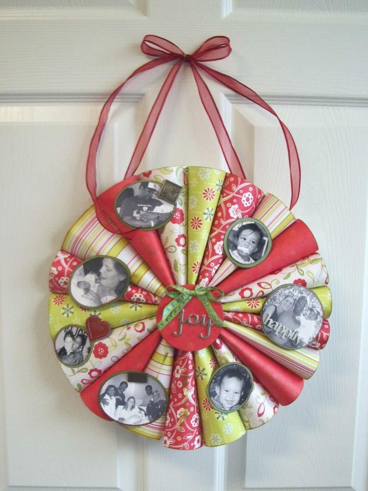Weihnachtskranz personalisiert Fotos