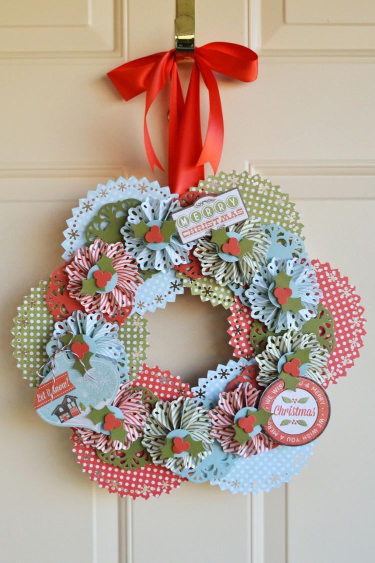 Weihnachtskranz tolle Idee aus Papier