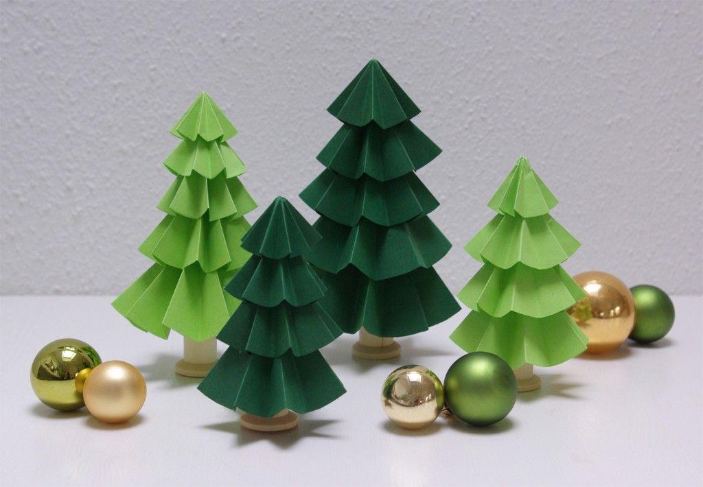Tannenbaum basteln aus Papier Ideen und Inspirationen