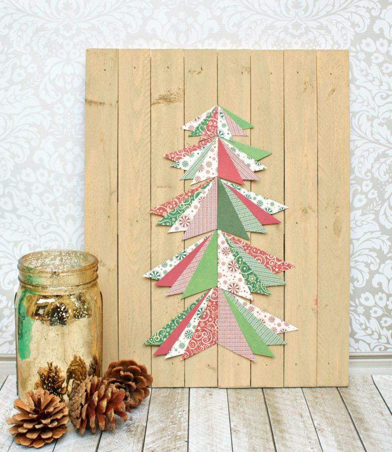 Tannenbaum basteln stilvolle Idee Weihnachten