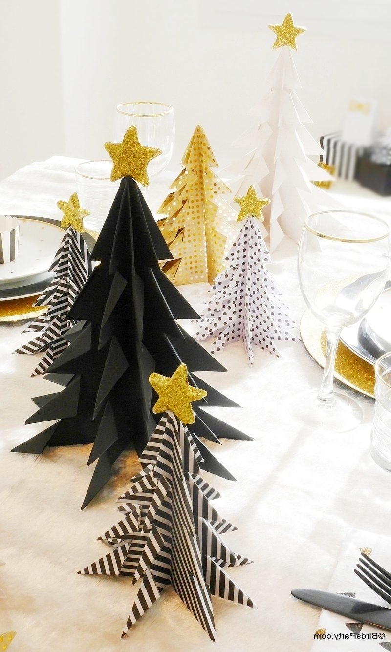 Tannenbaum basteln herrliche Tischdeko Weihnachten