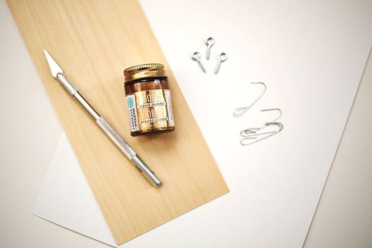 Weihnachtsdeko selber basteln Holz Ideen mit Holzpapier