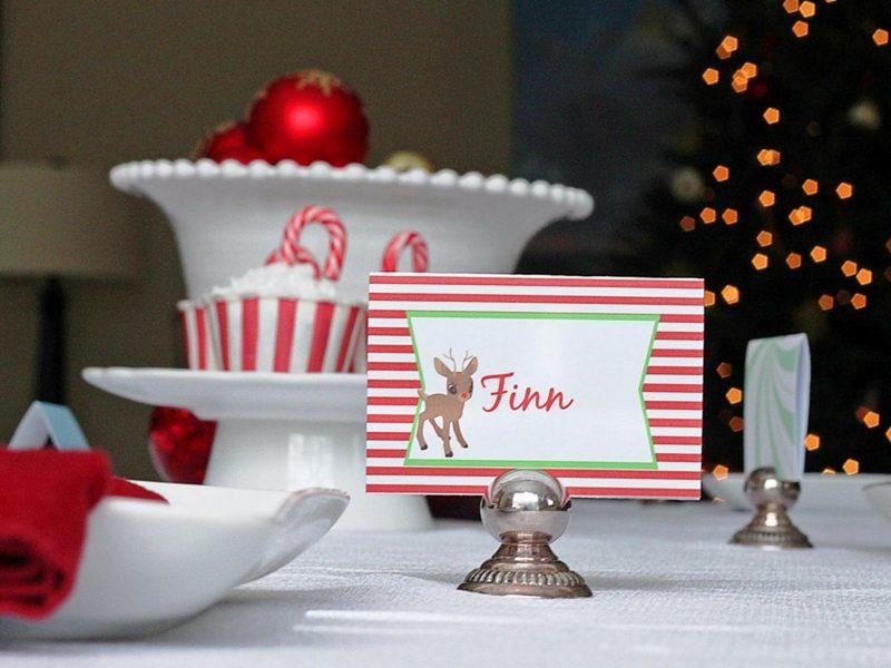 Weihnachtskarten selber basteln originell Rentier Bambi